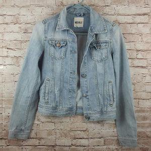 Brandy Melville Distressed Denim Jacket Medium